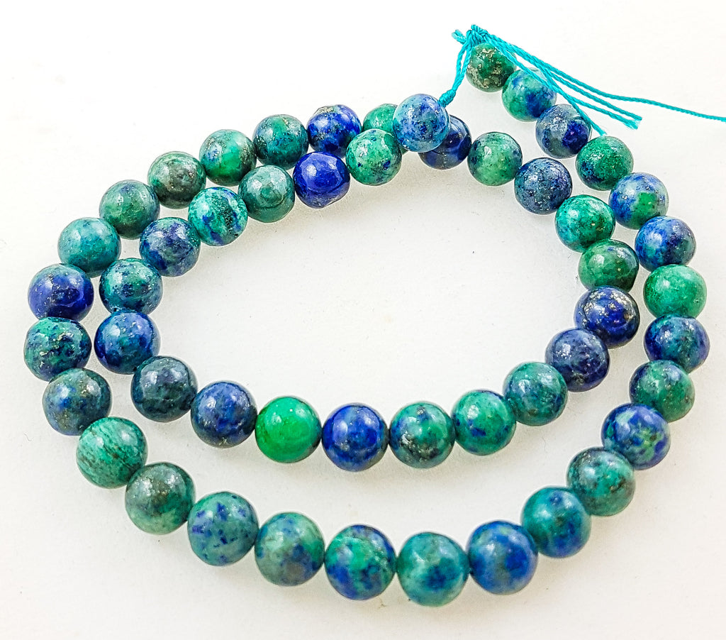 Strand of Semi-Precious Chrysocolla 8mm Round Beads