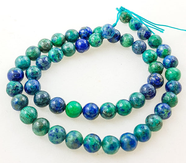 16 inch Strand of Semi-precious beads 8mm Chrysocolla