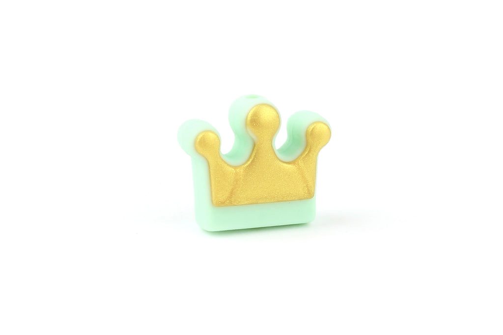 Kerrie Berrie Pastel Chunky Silicone Crown Beads for Jewellery Making