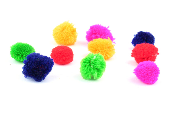 Kerrie Berrie Jewellery Making and Craft Supplies Multi Colour Mixed Bag of Pom Poms