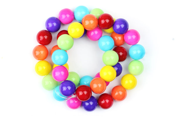 Rainbow / Mixed Colour Glass Beads – 10mm