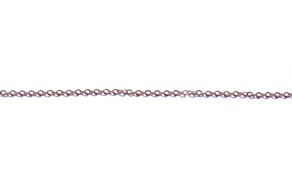 2mm by 2.5mm Oval Link Chain - Rose Gold (Tarnish Resistant)
