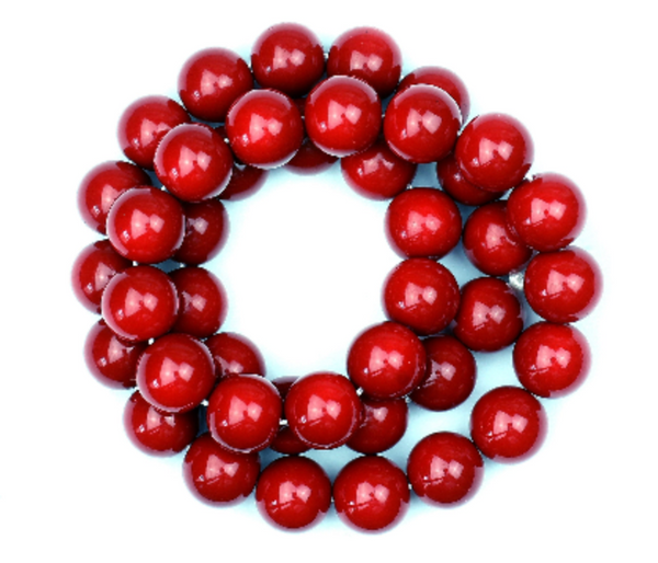 Kerrie Berrie UK Glass Beads for Beading and Jewellery Making in Red