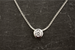 Sterling Silver Cubic Zirconia Necklace (Alternative for April Birthstone)
