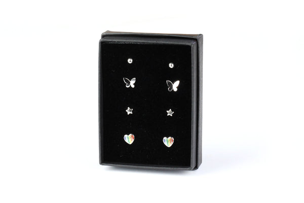 Sterling Silver Tiny Stud Earrings