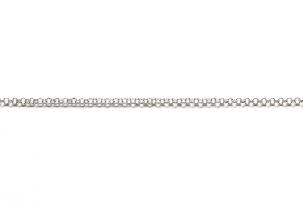 Double Round Link Chain - Silver (Tarnish Resistant)