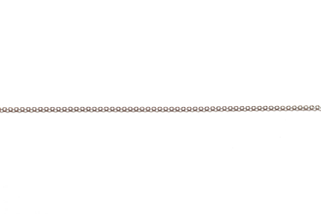 1mm by 1.5mm Fine Link Chain - Silver (Tarnish Resistant)
