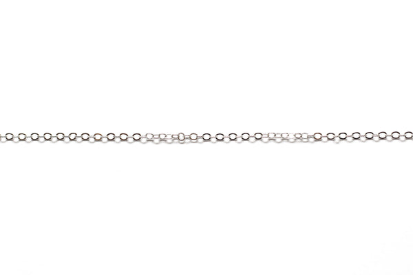 2mm by 2.5mm Oval Link Chain - Silver (Tarnish Resistant)