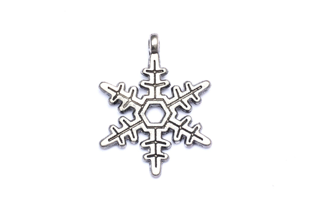 Silver Snowflake Charm. Ideal for jewellery making and other festive crafts.