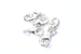 12mm Silver Lobster Clasp and Jump Rings Sets (5pcs)