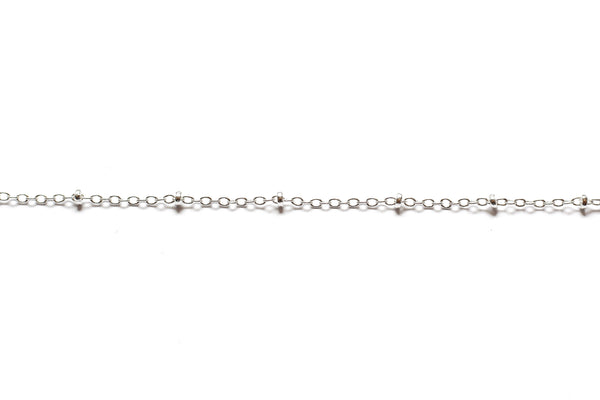 Fine Link and Bead Chain - Silver (Tarnish Resistant)