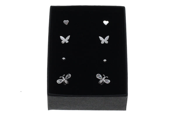 Sterling silver stud earring gift set