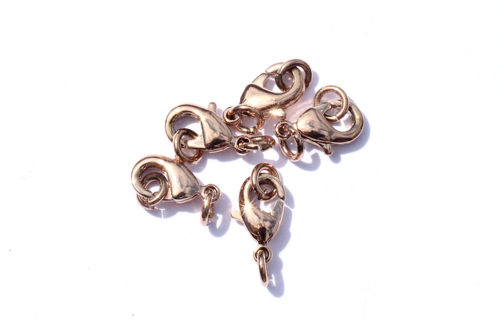 10mm Rose Gold Lobster Clasp and Jump Rings Sets (5pcs)