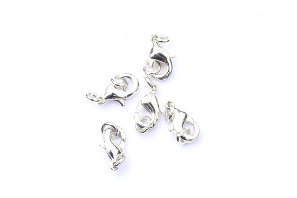 10mm Silver Lobster Clasp and Jump Rings Sets (5pcs)