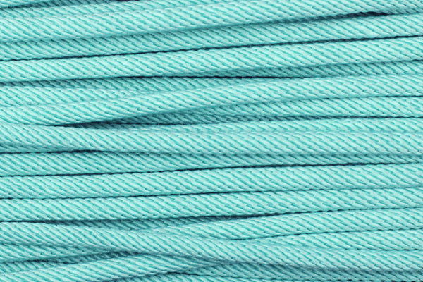 Cotton 'Rope' Cord in Soft Turquoise - 3mm (3 metres)