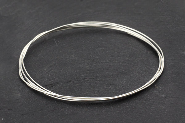 Sterling Silver Jewellery Wire – 0.6mm (Price per metre)