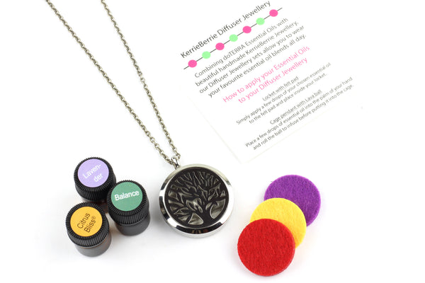 Kerrie Berrie Aromatherapy Diffuser Necklace Gift Set Present