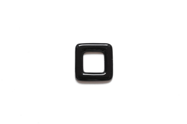 Black Acrylic Square Ring , 20mm, no hole.