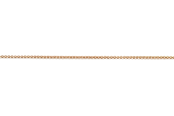 1mm by 1.5mm Fine Link Chain -  Gold (Tarnish Resistant)