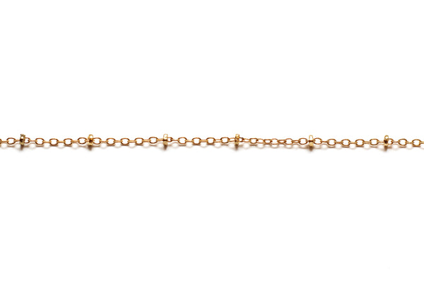 Fine Link and Bead Chain - Gold (Tarnish Resistant)
