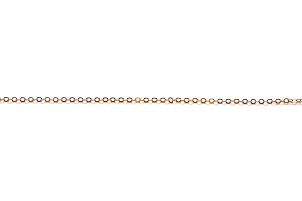 2mm by 2.5mm Oval Link Chain - Gold (Tarnish Resistant)