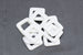White acrylic square ring for jewellery making.