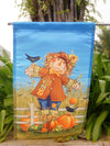 "October Scarecrow Fall Garden Flag Harvest Crows Autumn 12.5"" x 18"" 28 ""x"" (40)"