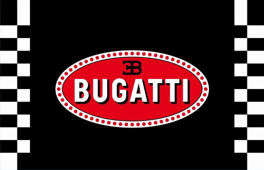 Bugatti Flag-3x5 Checkered Banner-Metal Grommets - flagsshop