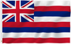 Hawaii State Flag-3x5 FT Banner-100% polyester-2 Metal Grommets - flagsshop
