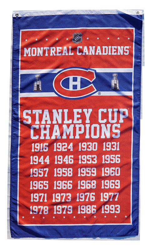 Montreal Canadiens Flag-3x5 Banner-100% polyester - flagsshop
