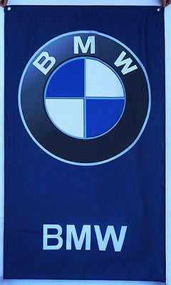 Custom BMW Flag-3x5 FT Banner-100% polyester-2 Metal Grommets - flagsshop
