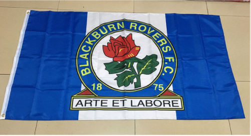 Blackburn Rovers Football Club Flag-3x5 Banner-100% polyester - flagsshop