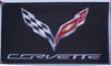 Chevrolet Corvette Flag-3x5 Checkered Banner-Metal Grommets