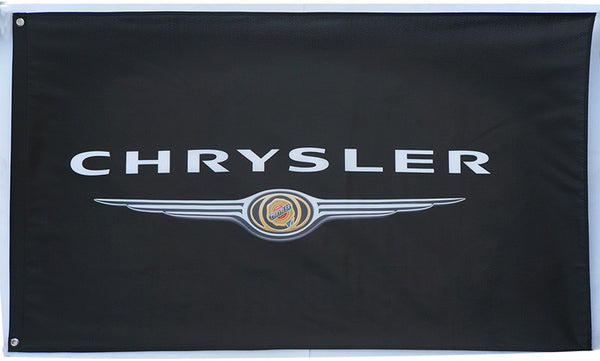 Chrysler Flag-3x5 Banner-Black - flagsshop