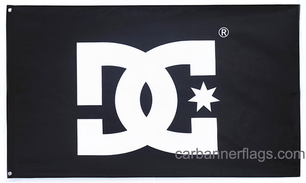 DC Dcshoecouse Flag-3x5 FT-Black-100% polyester-2 Metal Grommets Banner-Black - flagsshop