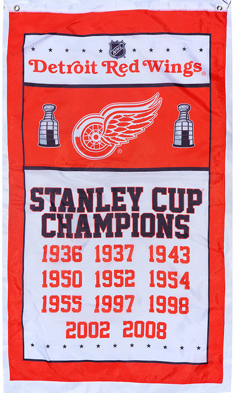 Detroit Red Wings Flag-3x5 Banner-100% polyester - flagsshop