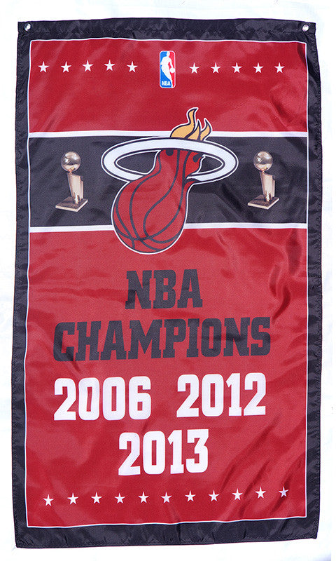 Miami Heat Flag-3x5 Banner-100% polyester - flagsshop