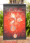"Traditional Merry Christmas Home Garden Flag - ""12.5 x 18"" ""28 x 40"" Inches - flagsshop"
