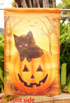 "Halloween Kitten Black Cat Garden Flag Fall- ""12.5 x 18"" ""28 x 40"" Inches - flagsshop"