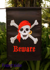 "NEW Pirate w Red Bandana Jolly Roger  Flag Banner""12.5 x 18"" ""28 x 40"" Inches"