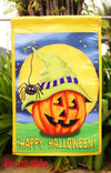 "Halloween Hitcher - Decorative Jack o Lantern Fall Spooky Spider House Flag - ""12.5 x 18"" ""28 x 40"" Inches - flagsshop"