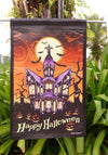 "Home Garden 1110559 Halloween Manor HalloweenFall Decorative Garden Flag - ""12.5 x 18"" ""28 x 40"" Inches - flagsshop"