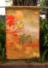 "Autumn Aria - Decorative Leaves Fall Orange Yellow Garden Flag - ""12.5 x 18"" ""28 x 40"" Inches - flagsshop"