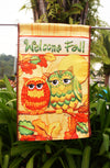 "Happy Halloween - Halloween Owls - Garden Size Decorative Flag- ""12.5 x 18"" ""28 x 40"" Inches"