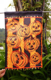"Family garden Halloween pumpkins flag bunting, ""18"" x 12.5 ""x 28 to 40 inches - flagsshop"