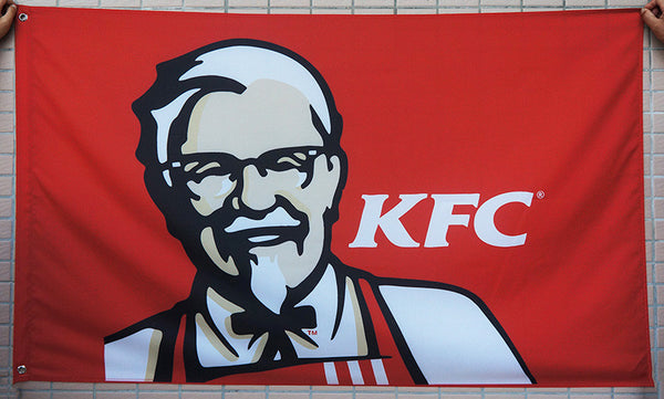 KFC Flag-3x5 FT kentucky fried chicken Flag-100% polyester-Banner-Red - flagsshop