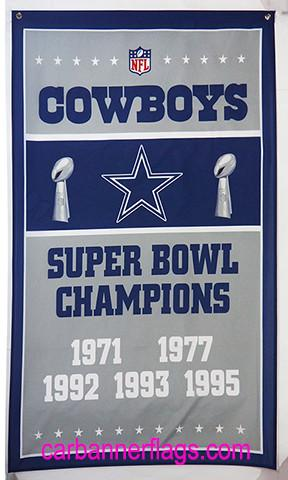 Dallas Cowboys Flag-3x5 NFL Banner-100% polyester