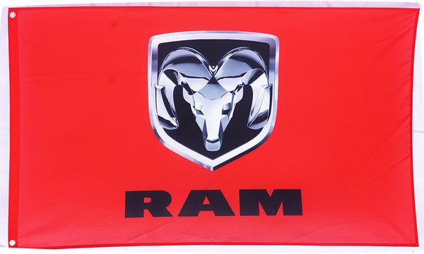 Dodge RAM Flag for car racing-3x5 FT-100% polyester Banner-Red - flagsshop