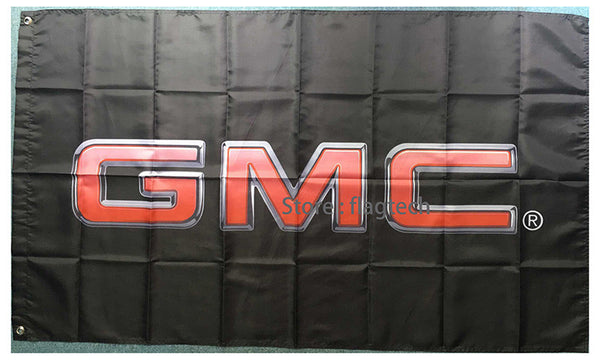 GMC Flag-3x5 FT-100% polyester Banner-Black - flagsshop