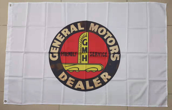 GM Flag General Motors Corporation Flag-3x5 FT Banner-100% polyester-2 Metal Grommets - flagsshop